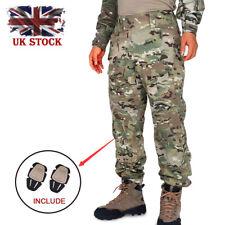 KRYDEX Men Hunting Tactical BDU Trousers Combat G3 Pants with Knee Pad Multicam