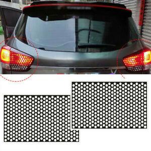 2Pcs Car Accessories Rear Tail Light Honeycomb Sticker Exterior Covers DIY Black