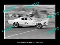 8x6 HISTORIC PHOTO OF JERRY TITUS DRIVING HIS FORD MUSTANG SHELBY 350 GT 1965