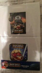 1 Pack - 2 Vests  BOYS New STAR WARS Angry Birds Vests WHITE  5 - 6 years
