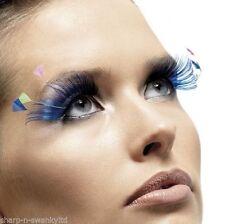 Blaue Lange Künstliche Wimpern & -kleber
