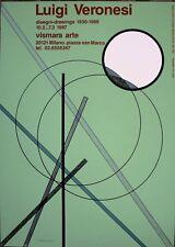 Luigi Veronesi serigrafia manifesto 70x50 firmata originale 1987 Vismara Arte