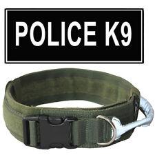 2 inch No Pull Working Dog Collar Reflective Handle Nylon Padded Big Dog Collar