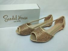 Sandal House Gold Women's Sandals Size UK 3 / EU 36
