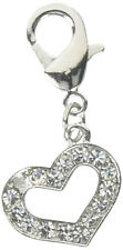 Mirage Pet Products Lobster Claw Heart Charm for Pets, Clear