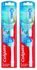 Colgate de rellenado para alimentado por batería Actibrush Cepillo de dientes 360 ° Pack de 2x2