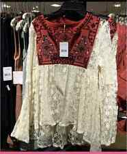 """NWT Free People """"casablanca"""" tunic top in ivory combo"""