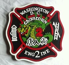 Fire Department DC Chinatown 3D routed wood custom patch plaque sign Custom