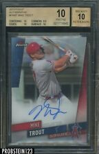 2019 Topps Finest Refractor Mike Trout Signed AUTO Angels BGS 10 PRISTINE