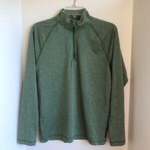 Reebok Play-Dry Long Sleeve 1/4 Zip Pullover Green Activewear Top Women's Size S
