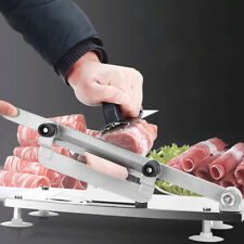 Adjustable Manual Frozen Meat Food Slicer Stainless Steel Beef Cutter Silver Us