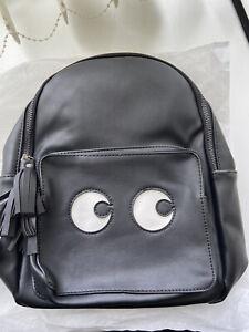 Ladies blue banana black gothic Halloween eyes mini backpack rucksack bag
