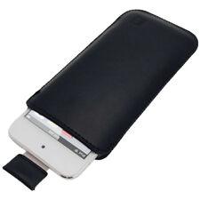 Nero Vera Pelle Pouch per Apple iPod Touch 6ª 5ª Generazione 5G 6G Borsa Case