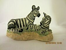 Zebra Mom and Baby Statue Resin Figurine Decor Collectible