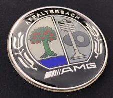 Mercedes AMG Bonnet Badge - 57MM - C E S CLK CLASS Affalterbach Chrome + Colour