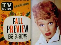 TV Guide 1953 Fall Preview V1N25 Lucille Ball I Love Lucy Jack Webb Dragnet NM/M