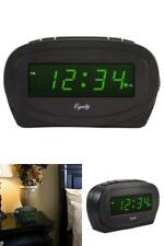 Black Large Green LED Display Desk Digital Alarm Clock Snooze Deal