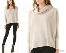 NWoT BROCHU WALKER Cashmere/Wool Cowl neck Modern Boxy Sweater  PETITE