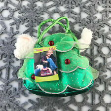"Douglas Cuddle Toy 6"" Cat Christmas Tree Sassy Pet Sak Holiday Plush Purse Bag"