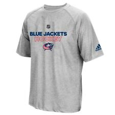 Columbus Blue Jackets NHL Adidas Men's Grey ClimaLite 2017 Authentic Ice T-Shirt