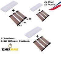 140 Câbles Dupont + Breadboard Plaque d'essais 830 points ARDUINO TimerMart