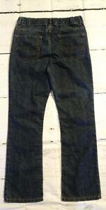 Boys Size XL 16 Blue Jeans Adjustable Waist Straight Leg Dark Wash Denim