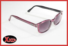 X-KD's Sunglasses Grey Fade Lens Purple Pearl Frame 1116 Biker Shades