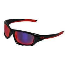 Oakley Men's Valve Sunglasses Polished Black/Red Iridium