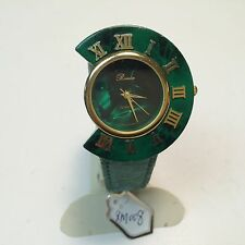 Vintage Ronica Asysmmetric Green Christmas Themed Quartz Watch Hours~New Battery