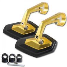 kmx24 Diamond Lenkerendenspiegel Motorradspiegel Rückspiegel im Set gold