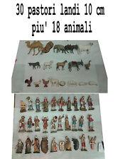 30 pastori landi 10 cm piu 18 animali moranduzzo presepe crib shepherds