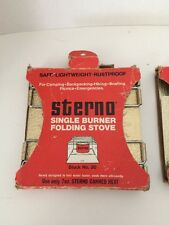Sterno Single Burner Folding Stove Backpacking Boating Picnics Camping Survival