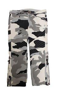 Bogner Franzi 2 Women's Ski Pants White Grey Black Camouflage Belt Size 44 XL