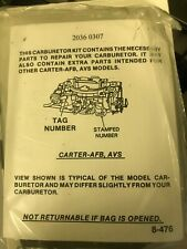 1962-1965 AFB Carburetor Repair