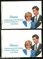 GHANA   LOT OF TWO  COMPLETE UNEXPLODED BOOKLETS STAMPS ARE MINT NH