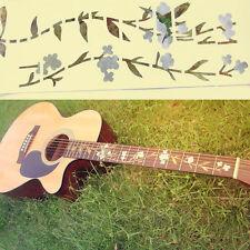 Bass Guitar Inlay Sticker Fretboard Marker Flowers Grass & Hummingbird Decal New