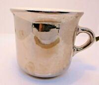Hall Oversize Coffee Mug Silver Finish Vintage