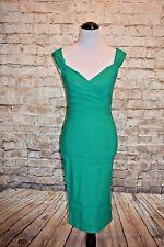 Rock Steady Diva Wiggle Dress Green  M  Pin-up Retro Sheath Modcloth Lady Love