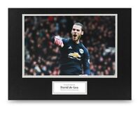 David de Gea Signed 16x12 Photo Display Man Utd Autograph Memorabilia + COA
