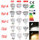 Bright 9W 12W 15W E27 GU10 MR16 LED Light Bulb Spotlight Lamp Warm Cool White