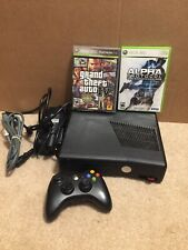 Microsoft Xbox 360 S 4 GB W/ 2 Games,1 Controller,Tested
