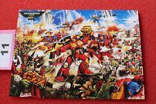 Juegos taller Warhammer 40k 30th aniversario obras de arte Tarjeta Arte Nuevo Postal F6