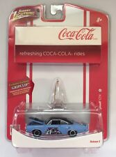 Johnny Lightning Coca-Cola 70 1970 Plymouth GTX Blue Christmas Ornament GripClip