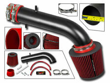Short Ram Air Intake Kit MATT BLACK + RED Filter for 95-02 Accord 2.7L 3.0L V6