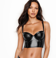 BNWT Victoria's Secret Very Sexy Faux Leather Bra Bustier  32C