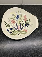 Red Wing Country Garden Three Sided Serving Bowl USA Hand Painted Atomic Shape