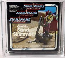 Vintage Star Wars Boxed POTF Tri-Logo Mini-Rig Sand Skimmer AFA 80+ #11879022