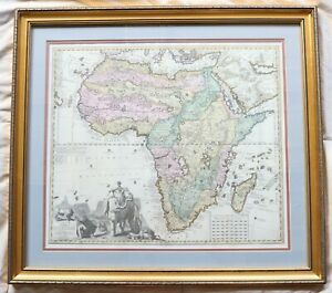 Antique Africa in Tabula Geographica Delineatio P. Schenk A.F. Zürner Color Map