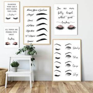Posters And Prints Makeup Lash Extensions Guide Wall Painting Picture Shop De.AU