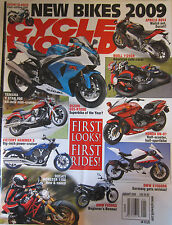 Cycle World Magazine January 2009 Suzuki Gladius GSX-R1000 Yamaha V Star 950 Hon